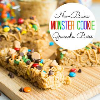 No-Bake Monster Cookie Granola Bars