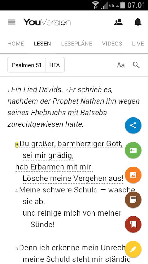 Bibel – Screenshot