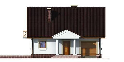 Dom przy Sosnowej - Elewacja przednia
