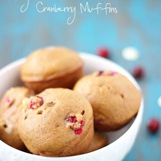 Skinny White Chocolate Cranberry Muffins