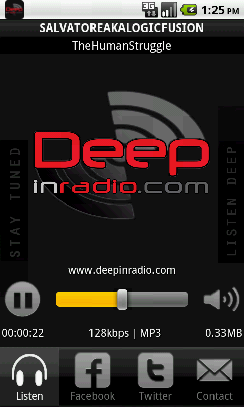 Deepinradio- screenshot
