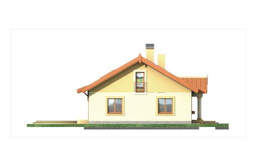 Sielanka II 35st. wersja A bez garażu z piwnicą - Elewacja lewa