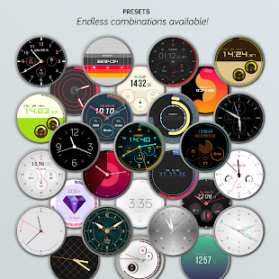 Watch Face - Pujie Black for Wear OS Screenshot