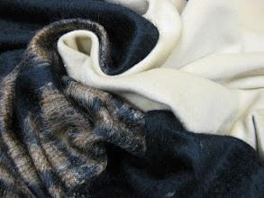 Photo: Ткань: мохер 100%, ш. 145 см., цена 9000р. Ткань: кашемир, ш. 140 см., цена 8000р.
