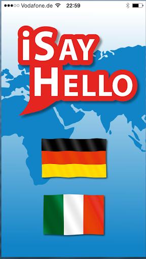 iSayHello 德语 - 意大利语