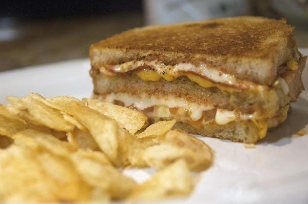 Double Grilled, Triple Stack Grilled Cheese Pizza Recipe