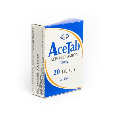 Acetazolamida Acetab 250mg x 20 Tabletas