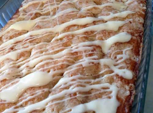 """Overnight Eggnog Streusel Coffee Cake """"I love anything I can prepare the..."""
