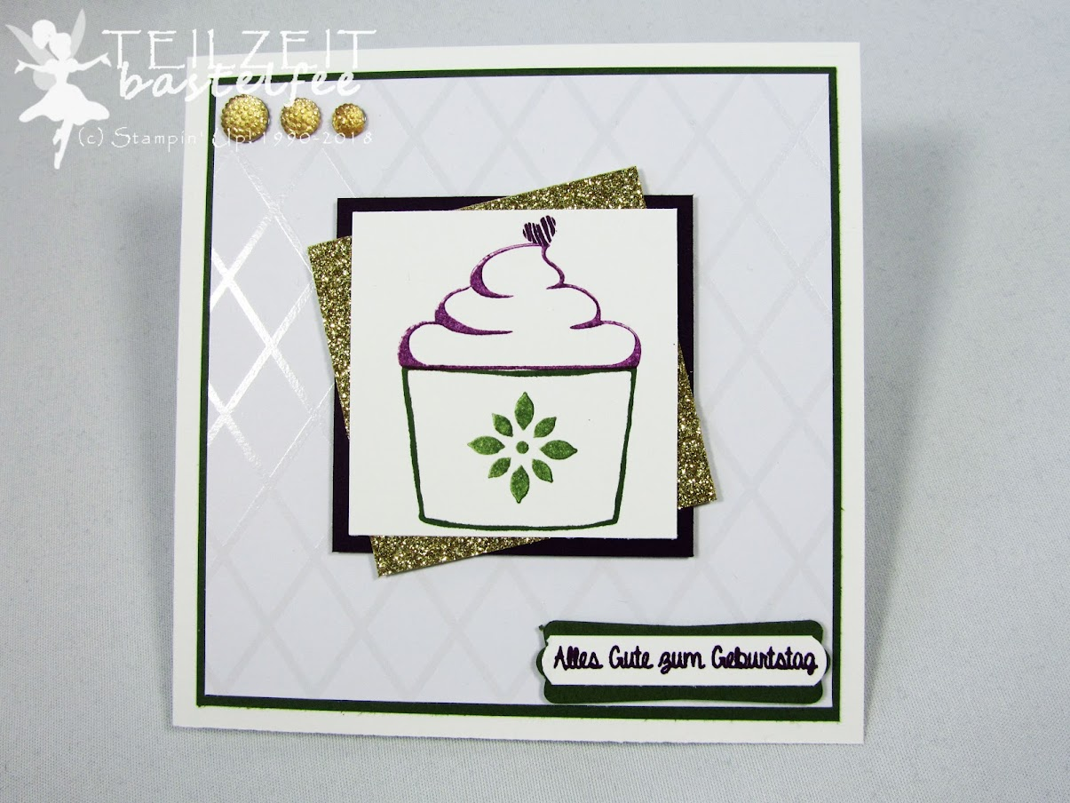 Stampin' Up! - Inkspire_me, Birthday, Geburtstag, color challenge, sketch challenge, hand delivered, Persönlich überbracht, Kaffee Olè, coffee café, square