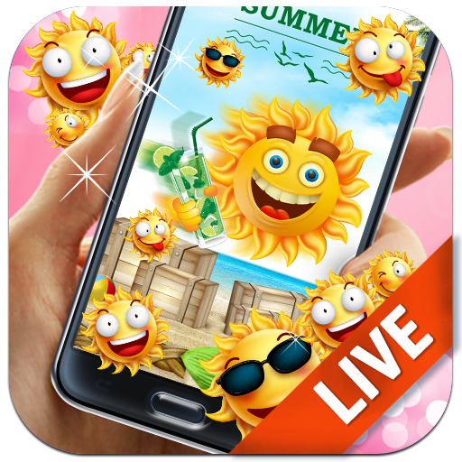 Summer Vibe Emoji Live Wallpaper