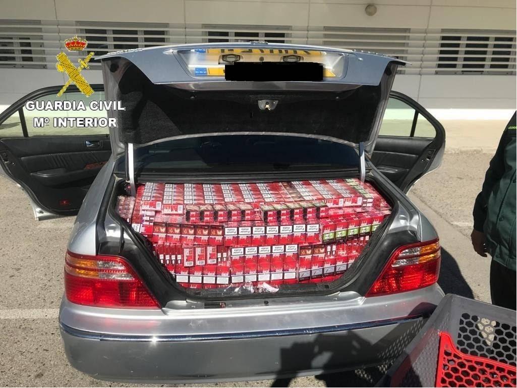 La Guardia Civil interviene 11.500 cajetillas de tabaco de contrabando procedente de Gibraltar