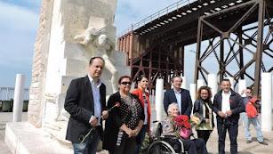 Simone Vably (en el centro) era una habitual del homenaje a las víctimas de Mauthausen.