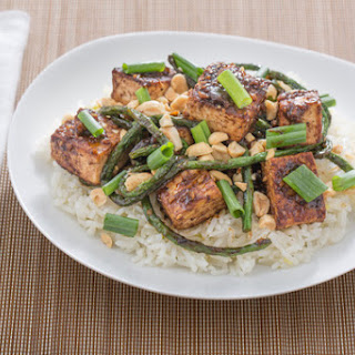 Szechuan Tofu & Long Beans with Jasmine Rice, Peanuts & Bird's Eye Chile