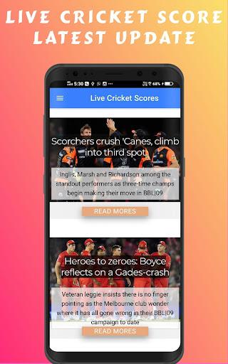 Cricscr - Live Cricket Scores And Cricket News ss2