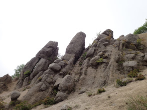 白ハゲの奇岩