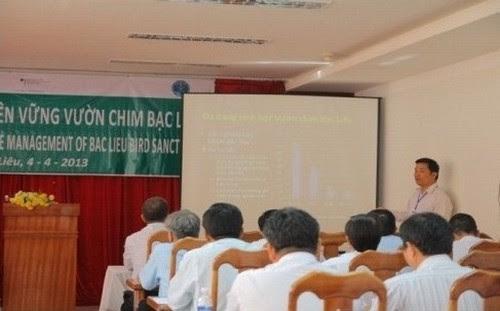 Hội thảo về quản lý bền vững Vườn chim Bạc Liêu