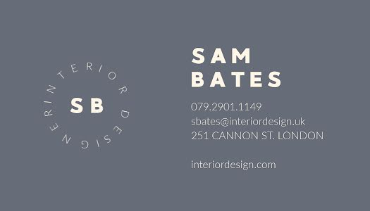 Bates Interior Design - Business Card Template