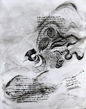 """Photo: Ink Ocean, 2010, Brenda Clews, 13"""" x 16"""", India ink on archival paper. A prose poem on the Gulf Oil Spill emerged from this drawing. The poem was revised in 2012, and there is a video of me reading/performing it live: http://youtu.be/w4Xs2dIt2m4"""