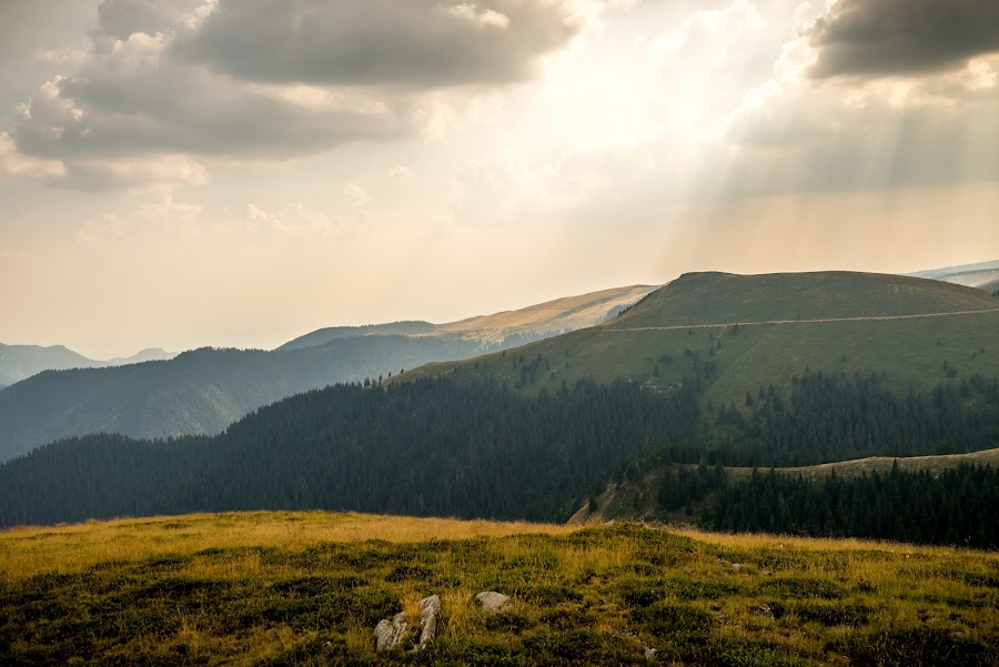 This is Our Church by Andreea Alexe - Landscapes Mountains & Hills ( clouds, autumn, grass, meadow, mountain top, rays, sun, #GARYFONGDRAMATICLIGHT, #WTFBOBDAVIS,  )