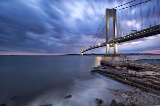 Photo: Verrazano Bridge (pt. 2) Brooklyn, NY  Here's another shot shortly after sunset on Sunday night :)