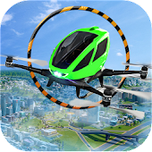 City Flying Drone Taxi :Flying Car Games