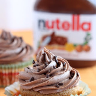 Pumpkin Cupcakes with Nutella Frosting
