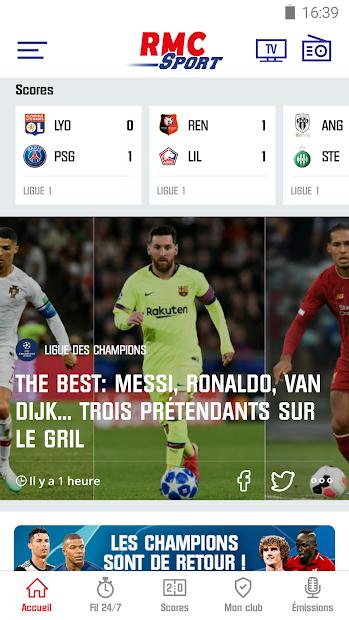 RMC Sport News - Actu Foot et Sports en direct Android App Screenshot