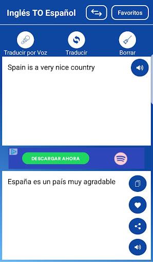 Traductor Español Ingles/Inglés Español Voz Texto screenshot 3