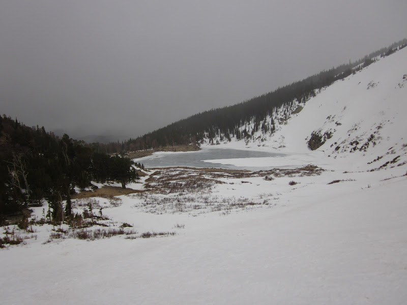 Photo: View of St. Mary's lake early morning.  Cloudy and windy