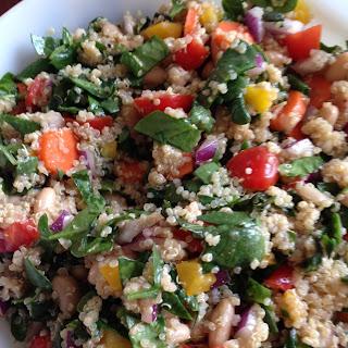 Rainbow Quinoa Salad.