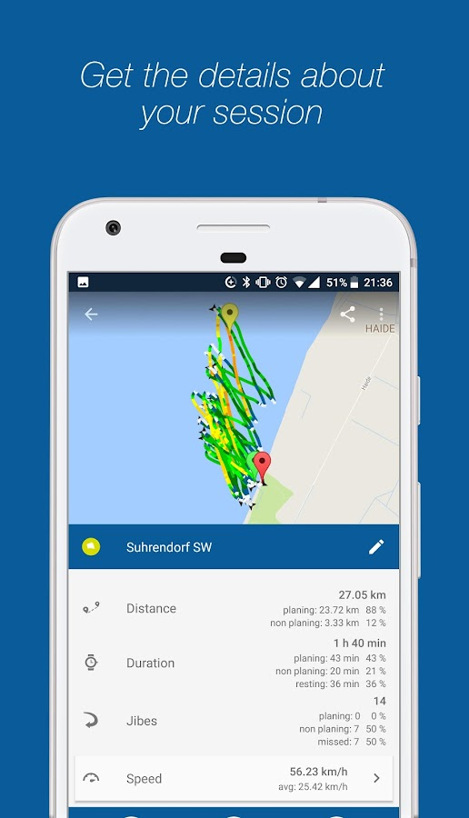 WindsportTracker - Windsurfing & Kitesurfing- screenshot