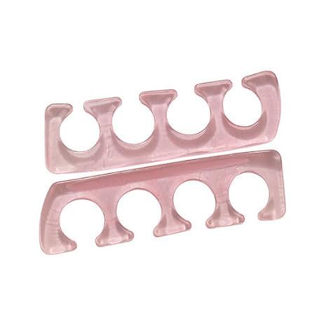 1 par tåseparatorer i silikon- rosa