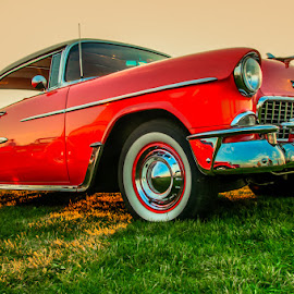 Old Red by Chris Cavallo - Transportation Automobiles ( old car, red, maine, vintage, retro, car show,  )