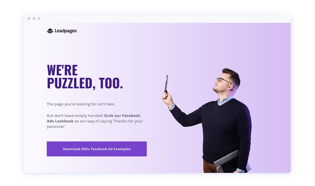 lead generation 404 page