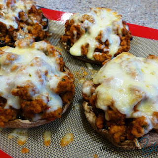 Turkey Marinara Stuffed Portobello Mushrooms Turkey Marinara Stuffed Portobello Mushrooms (Gluten-Free)