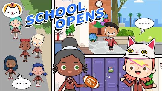 Miga Town: My School MOD (Unlock All Map Characters) 1