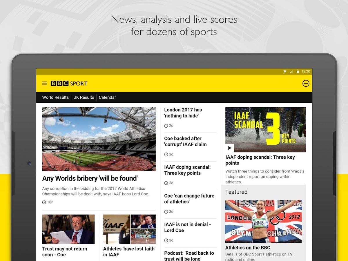 BBC Sport- screenshot