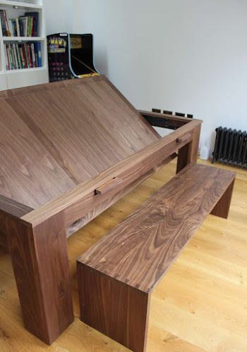 Walnut Bench seat for Pool Table