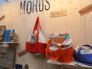 "Photo: Stools in Bags, Morus, Beirut, Lebanon. ""passionately handmade"" #fairtrade morusworld.org #ambiente14"