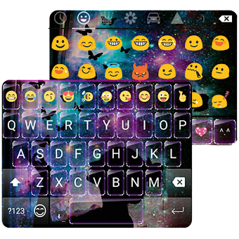 Wish Butterfly Dream Emoji Keyboard Theme