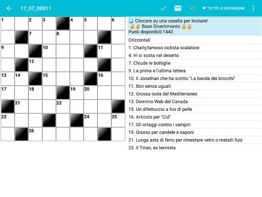 Italian Crossword Puzzles - Advanced Level 7.5 10