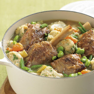 Braised Lamb Shank with Parmesan Dumplings