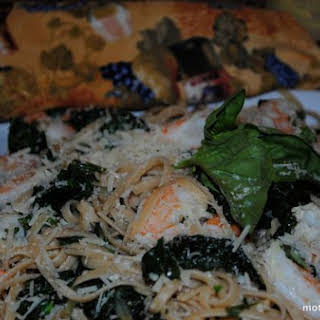 Fresh! Whole Wheat Pasta With Shrimp and Chard.