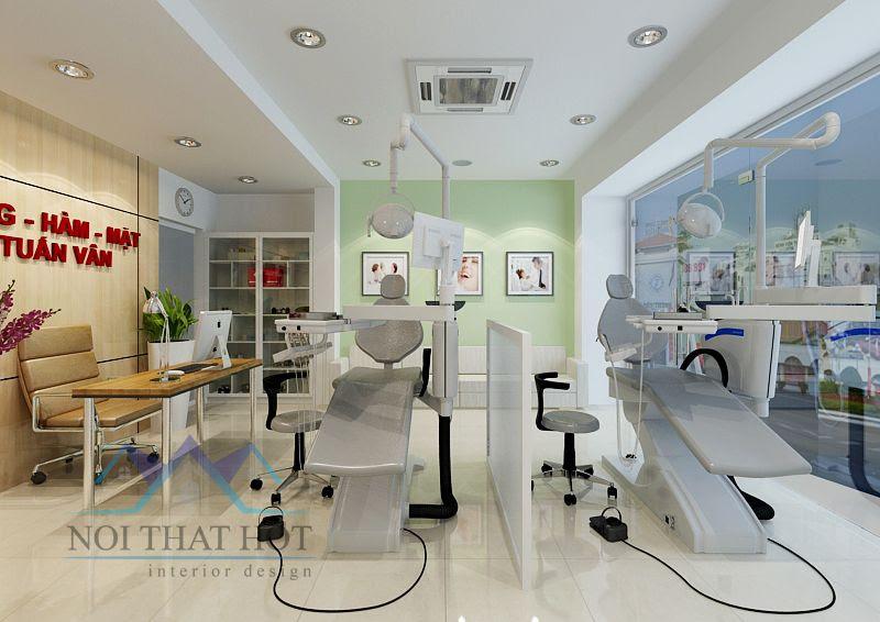thiết kế nội thất phòng khám nha khoa