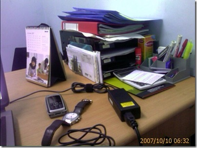 my working table