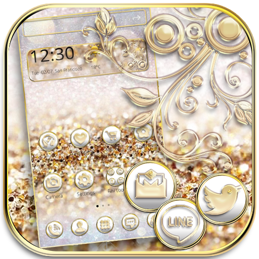 Silver Gold Theme Wallpaper luxury gold