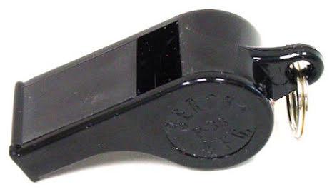 Klassisk visselpipa med 25mm nyckelring - RÖDA