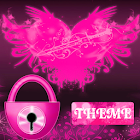 Theme Pink Hearts GO Locker icon