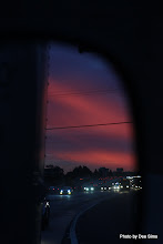 Photo: (Year 3) Day 30 -  Sunset Via the Van Mirror