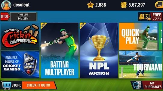 World Cricket Championship 2 Apk MOD (Unlimited Coins/Unlocked) 3